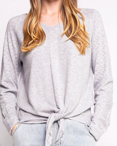 The Nova Tie Front Cashmere Blend Sweater