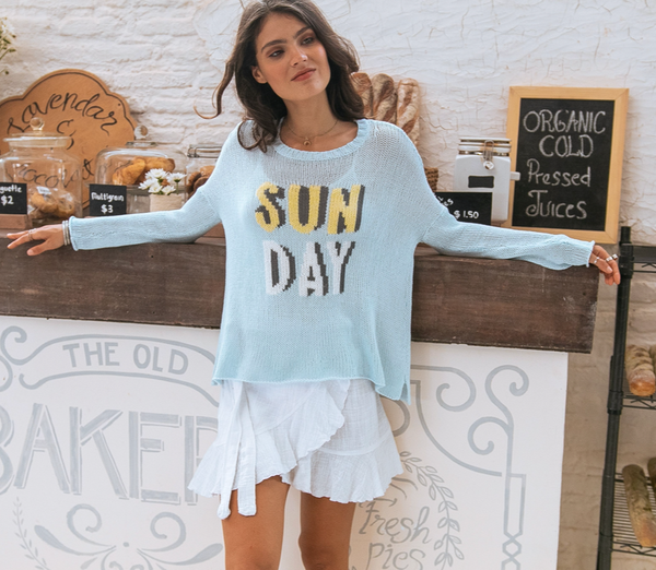 Wooden Sunday Crew Cotton Sweater