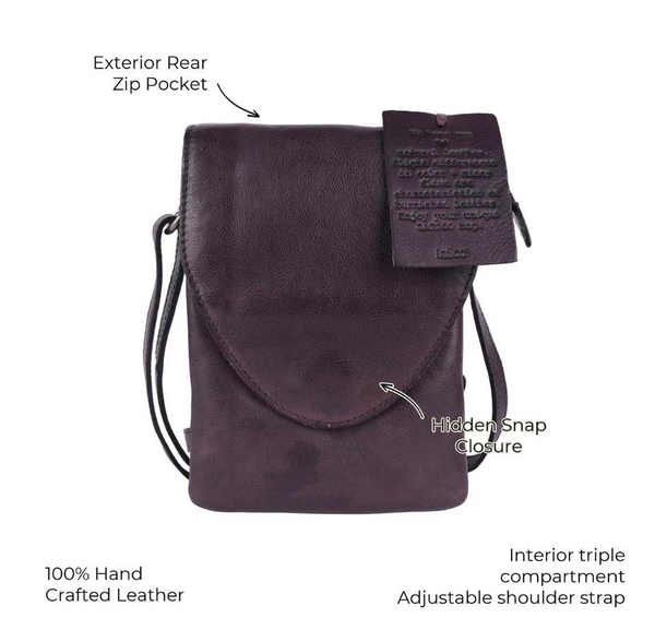Pippa Tall Leather Crossbody Bag