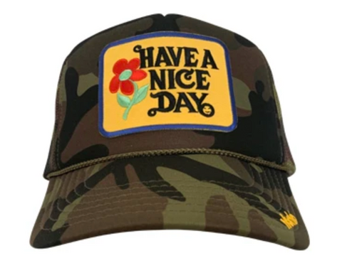 Have a Nice Day Patch Trucker Hat