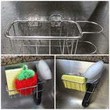 Our stainless-steel sink caddy gets rid of the annoying problem of having your caddies fall off all the time, and with a spacious and practical design keeps everything you need at arms reach!  Fits perfectly inside your sink for easy access. Holds two sponges (or scrubbies!) and a brush! Is adhesive-based, and eliminates the use of annoying suction cups! We recommend only applying the adhesive product to non-porous surfaces! All of our products come with a 60-day money-back guarantee.