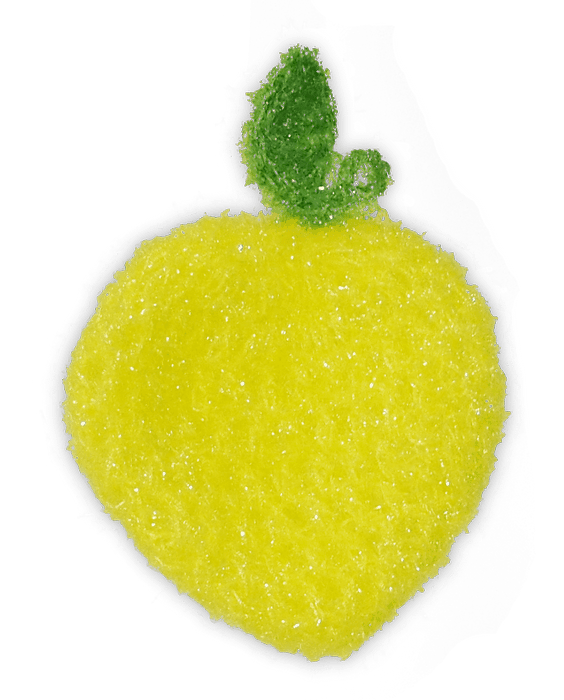When life gives you lemons, turn them into Scrubbies! Perfect for smaller hands or kids, this cheery Scrubbie gives you an extra zest while cleaning!  No-odor, non-scratch, and long-lasting; up to 6 months or even a year! Use it in your kitchen, shower, outdoors, and even as a loofah! All of our products come with a 60-day money-back guarantee! Polyester blend material washes easily in the dishwasher or washing machine.