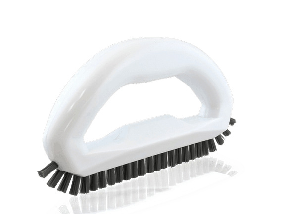 EASY TO HOLD AND MANIPULATE: Uniquely shaped grout scrubbing brush is large enough to hold firmly but has bristles that are supple enough to get into small areas.  GROUT SCRUBBER: Heavy-duty angled bristles get deep into the grout.  STRONG SCRUBBING COMFORT: Wide and comfortable handle so you can scrub without hurting your hands!