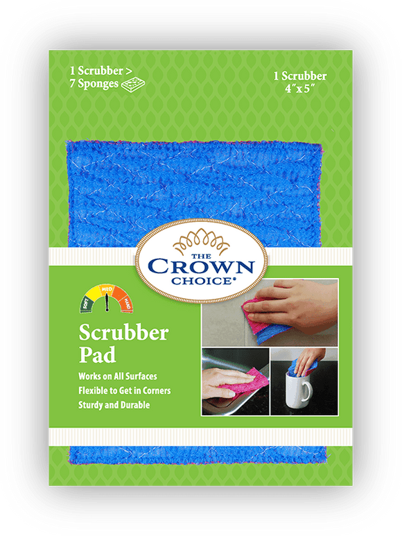 Our all-purpose, non-scratch nylon scrubber lifts grime, dirt, and residue off in record time! Great for dishes and amazing for cleaning in the shower, sinks or tub.   Non-scratch, durable, and fast! Great for cleaning tile, grout, tub, and counters. Super long-lasting. All of our products come with a 60-day money-back guarantee! Nylon blend material washes easily in the washing machine.