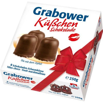Grabower Kuesschen Schokolade Foam Kisses Dark Chocolate