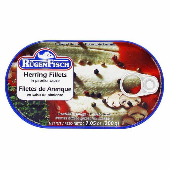 Ruegen Fisch Herring Fish  Fillets in Paprika Sauce