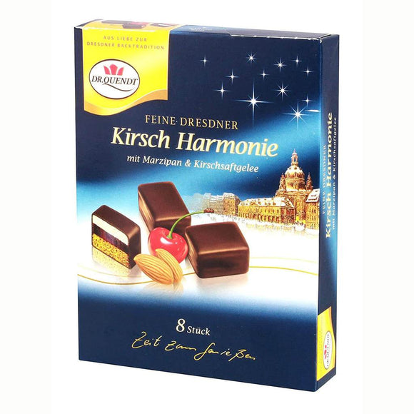 Dr. Quendt Dresdner Kirsch Harmonie  Domino Steine with Marzipan and Cherry Juice Jelly