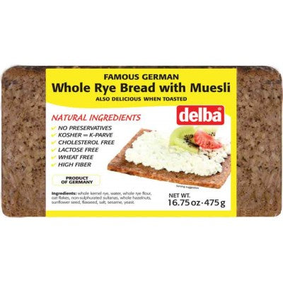 Famous German Delba Whole Rye Bread with Musli