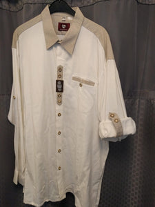 Copy of Beige Men Trachten Shirt with Embroidery