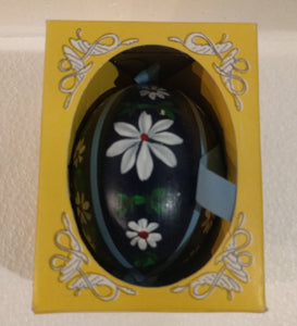 Hand Made and painted Edelweiss Flower Easter Egg Ornament