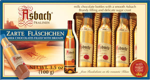 Asbach Brandy filled  Milk/Dark chocolate bottles