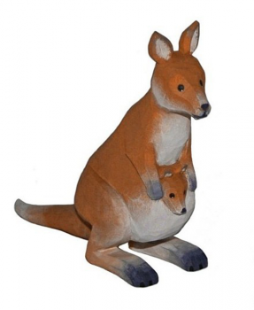 1862 Lotte Sievers Hahn Hand carved Wooden  Kangaroo 9cm
