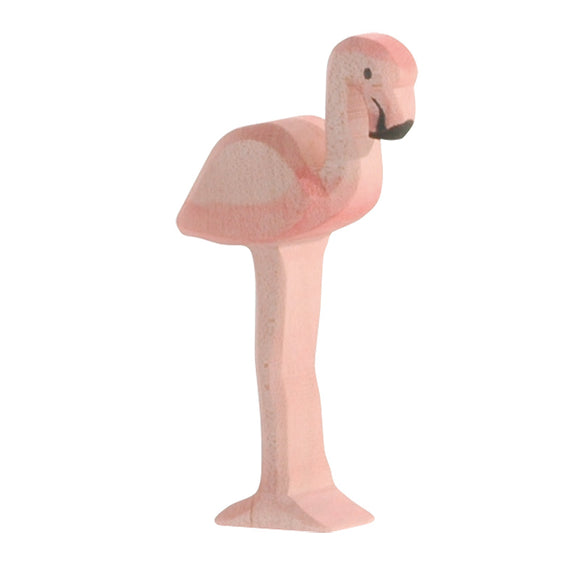 20561 Ostheimer Flamingo Wooden Figurine