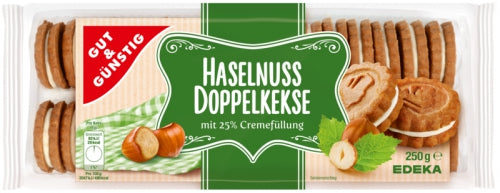 Haselnuss Doppelkekse Hazelnut Cream  Sandwich Cookies 8.75 oz