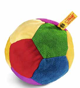 239984 Steiff Rattle Ball 12 multy colored