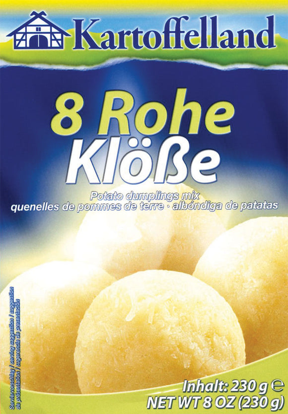 Kartoffelland  8 Rohe Kloesse  Raw Potato dumplings