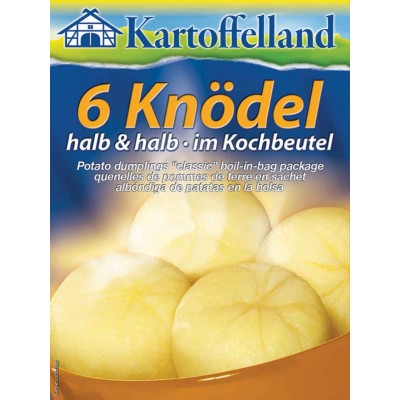 Kartoffelland 6 Half And Half (Half Potato) Dumplings Mix In Cooking Bag