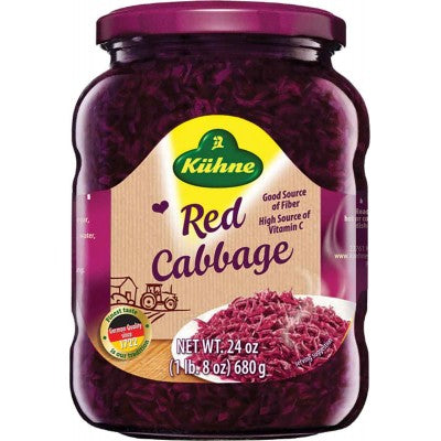 Kuehne Red Cabbage in Jar 24 oz.