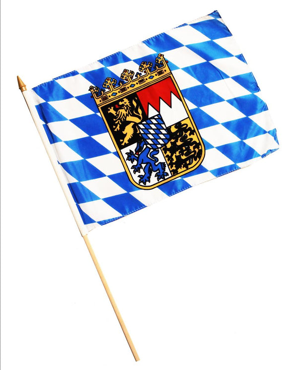 Bavarian Flag  on a Stick