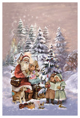 "Glitter Advent card  with envelope ""At Santa Claus"""