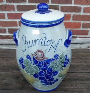 4 l Beautiful Hand made Salt glazed Pottery  Pot with Lid