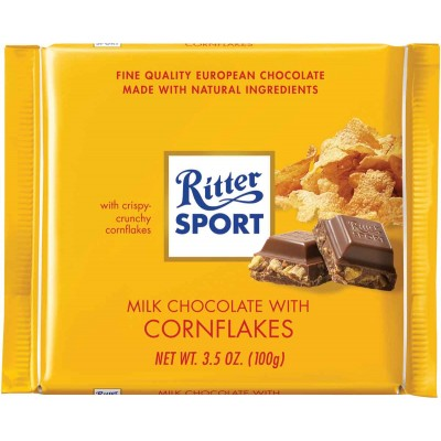 Ritter Sport Milk Chocolate with Cornflakes Filling