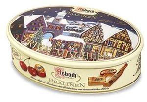Asbach Christmas Tin with Assorted Pralines