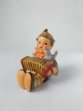 Hummel Goebel Concertina Playing Boy Figurine