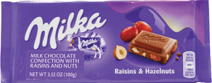 Milka Raisin Hazelnut Chocolate