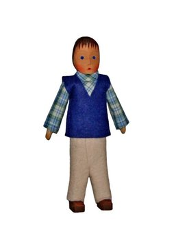 Lotte Sievers Hahn Doll's house, father, blue jacket,