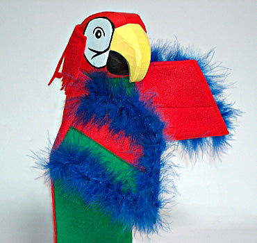 Lotte Sievers Hahn Parrot COCO Hand carved Glove Hand Puppet