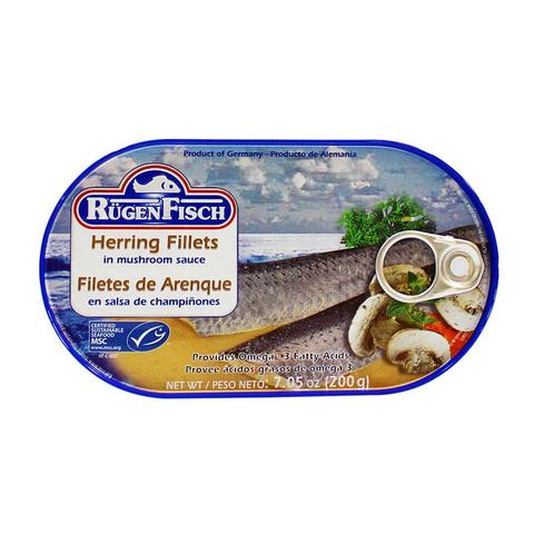 Ruegen Fisch Herring Fish Fillets  in Mushroom Sauce