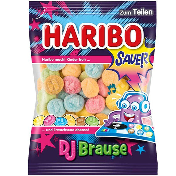 German Haribo DJBrause Sauer - Fizz Gummy Candy Share Size