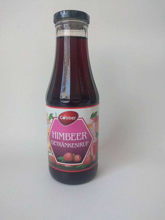 Goebber Raspberry Fruit Syrup Mix