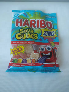 German Haribo Sour Cubes Zing  Share size Gummy Candy