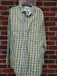 Green Big Checkered Men Trachten Shirt