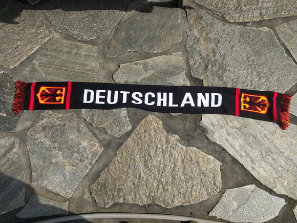 Knitted Deutschland Fan Scarf/Shawl with Eagle Crest