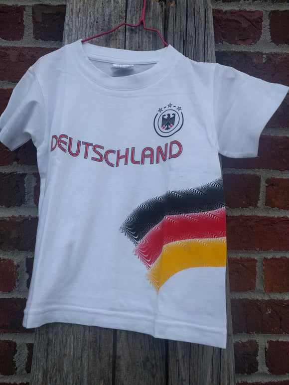 Children German Soccer Fan T shirt