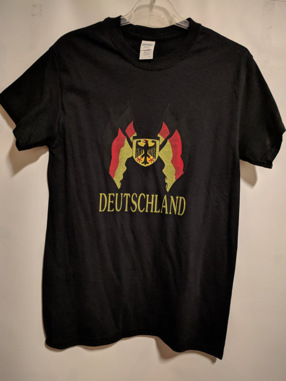 Deutschland T-shirt with German Eagle and Flags