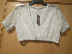 Elastic Cotton/ Lace Dirndl Blouse