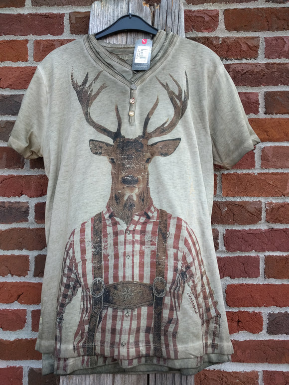 Deer in Lederhosen Shirt