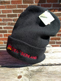 Deutschland Knitted Beanie Hat with Embroidered German flag