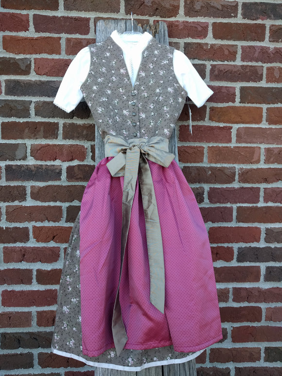Stockerpoint Jr.  Midi Dirndl 3 pieces.  IMERA nut fuchisa