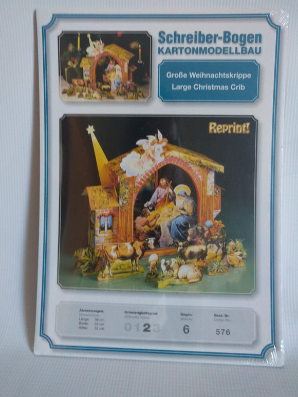 Schreiber-Bogen Kartonmodellbau  Large Christmas Crib - Creche Nativity Model Set