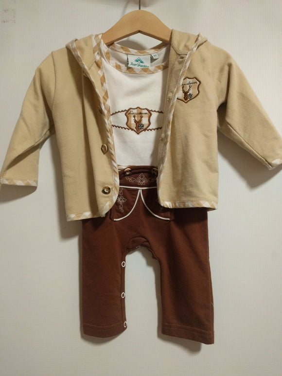 Baby Jacket with Hood matching Lederhosen Onesies