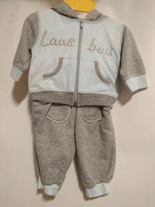 Baby Lederhosen Outfit Baby LAUS BUA  Two Piece with Hood
