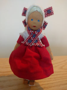 Lotte Sievers Hahn Hand Carved Trachten Doll 1