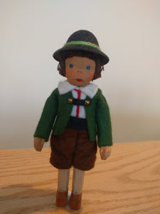 Lotte Sievers Hahn Hand carved Bavarian Boy Doll