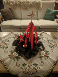 Advent wreath with Stand and candles and candle holders