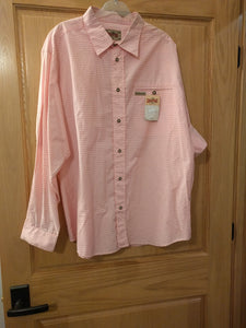 Pink White Checkered Men Trachten Shirt